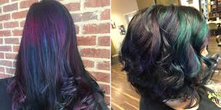 hair color of the year 2015 oil slick hair color trend 2015 hair dye trends