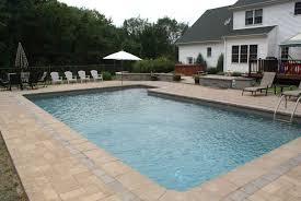 Inground Pool Ideas Similiar Rectangle Inground Pool Landscaping Ideas Keywords With