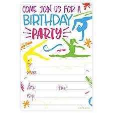 birthday party invitations gymnastics birthday party invitations fill in style
