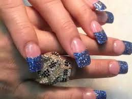 how beautiful dallas cowboy blue glitter nails tip youtube