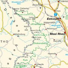 Map Of Southern Africa by Map Drakensberg Maps And Directions At Map