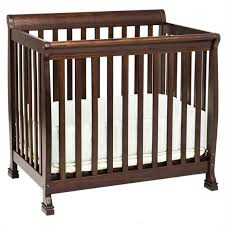 Crib Mini Davinci Kalani Convertible Mini Wood Crib In Espresso Finish M5598q