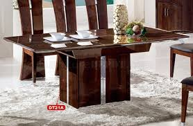 Dark Dining Room Table Dining Room 10pc Set In Dark Brown High Gloss By Pantek