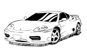 coloring appealing draw ferrari 360 car drawing step