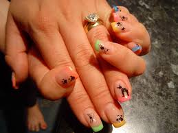 multi coloured nail designs images nail art designs