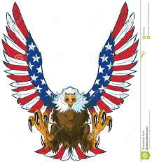Eagles Nest Va Nursing Home Atlanta Ga Screaming Eagle With American Flag Wings Vector Clip Art Stock