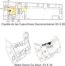 notre dame du haut floor plan capuchin chapel v notre dame pdf document designs cad