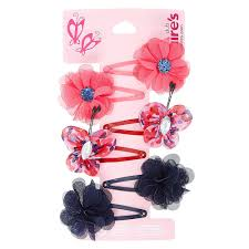 claires hair accessories kids 6 pack layered mesh flower hair s