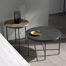grey metal bedside table metal bedside table brooklyn vintage grey met 6612 pmap info