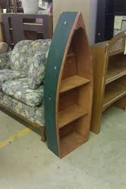 Canoe Shaped Bookshelf Boat Shaped Bookcase Bookcase Ideas