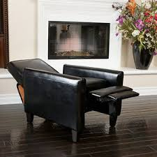 living room furniture modern design black leather recliner club
