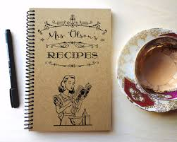 handmade personalized gifts personalized blank recipe book gifts for the custom