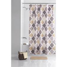 Best Fabric For Shower Curtain Best Gray Shower Curtains Fabric In Mainstays Ogee Tile Fabric