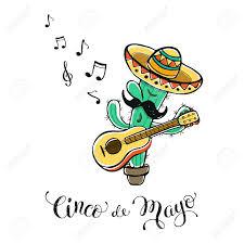 cartoon cinco de mayo funny cinco de mayo illustration cartoon cactus in mexican hat