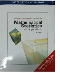 mathematical statistics with applications international edition