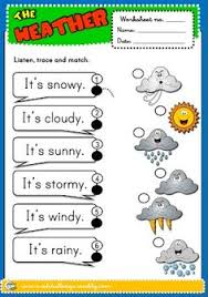 the weather worksheet 4 b u0026w version educación pinterest