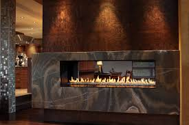 decor luxury model linear gas fireplace with single sided