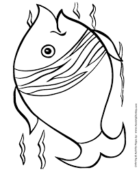 easy shapes coloring pages free printable big fish easy coloring