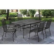 Wrought Iron Patio Dining Set Mainstays Jefferson Wrought Iron 7 Patio Dining Set Seats 6