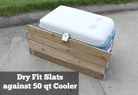 How To Make A Table Out Of Pallets How To Build A Rustic Cooler From Free Pallet Wood Perhaps My
