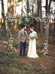 wedding arches made of branches an woodland wedding inspiration shoot chic vintage brides
