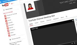 youtube channel layout 2015 youtube channel gui psd template studio gallant