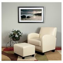 Leather Armchair With Ottoman Faux Leather Club Chair With Ottoman Cream Office Star Target
