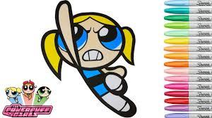 powerpuff girls coloring book bubbles episode 2 superhero