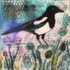 winter magpie in the garden maria pace wynters
