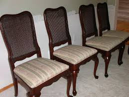 reupholster a dining room chair amount of fabric to recover dining room chairs room image and