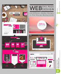 cozy one page website template design stock vector image 53419534