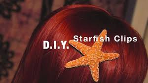 starfish hair clip d i y starfish hair