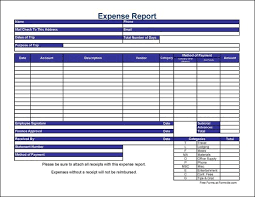 Excel Expense Report Template Free Free Detailed Contractor Travel Expense Report From Formville