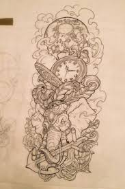 best 25 time clock tattoo ideas on pinterest pocket watch