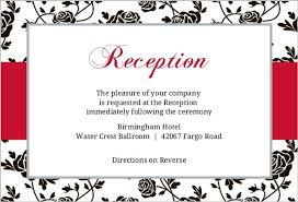 wedding reception cards roses black and reception card wedding enclosure cards