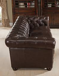 Amax Kensington Top Grain Leather Chesterfield Sofa And Chair - Chesterfield sofa and chairs