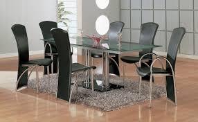 modern dining room set 61 most splendiferous modern dining table set glass room dinette