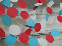 dr seuss themed baby shower decorations 10ft red aqua and