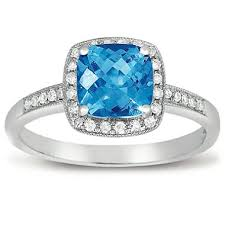 engagement rings topaz images 1 5 ct blue topaz and diamond ring in 14k white gold sam 39 s club
