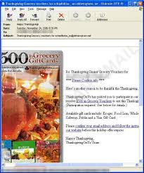 free thanksgiving vouchers from spammers threat encyclopedia