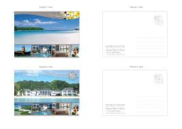 template front and back postcard template