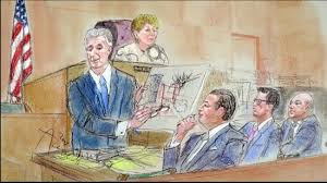 sketches of court bicyclist faulted in red hook accident trial