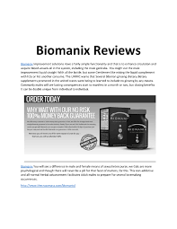 biomanix reviews authorstream
