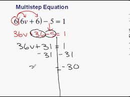 multi step equation example 3 distributive property u0026 c l t
