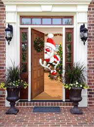 amazon com christmas front door decor santa and rudolph