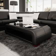 coffee tables attractive elegant bonded leather coffee table