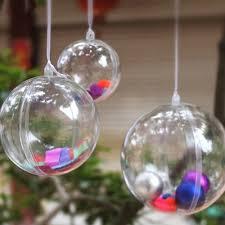 fillable plastic clear ornament small 2 1 4 inch 12