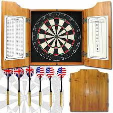 Dart Board Cabinet Plans Adg Solid Wood Dart Cabinet With Dartboard And Darts Walgreens