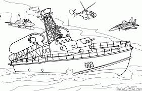 coloring page us destroyer