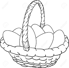 vector basket of easter eggs royalty free cliparts vectors and